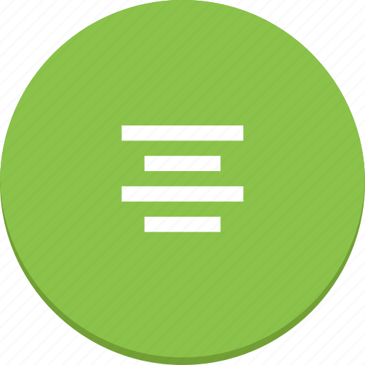 align, document, edit, material design, middle, text icon
