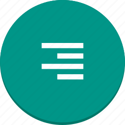 align, document, edit, material design, right, text icon