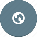 earth, material design, planet, space, world icon