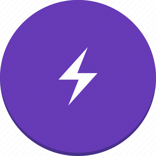 electric, energy, flash, lightning, material design, power icon