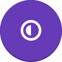 contrast, half, material design, view icon