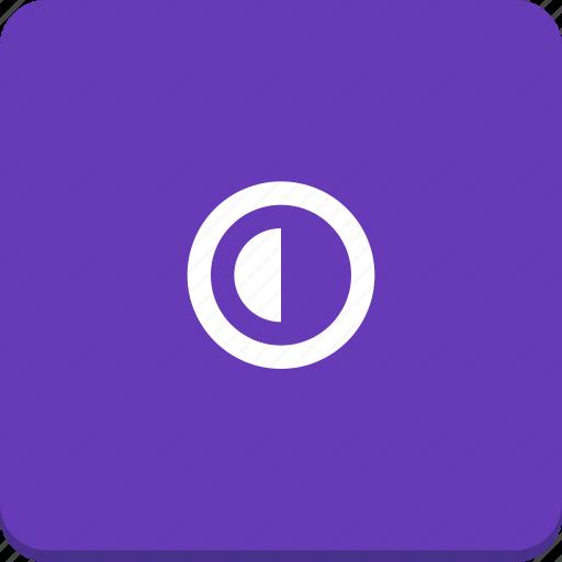 contrast, half, material design icon