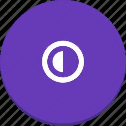 contrast, half, material design, view icon