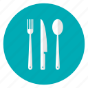 cutlery, fork, kitchen, knife, spoon, tool, utensil icon