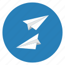 mail, paper, planes, post icon