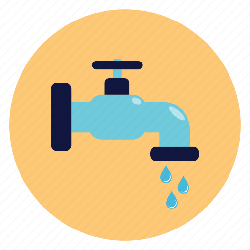 drop, pipe, tap, water icon