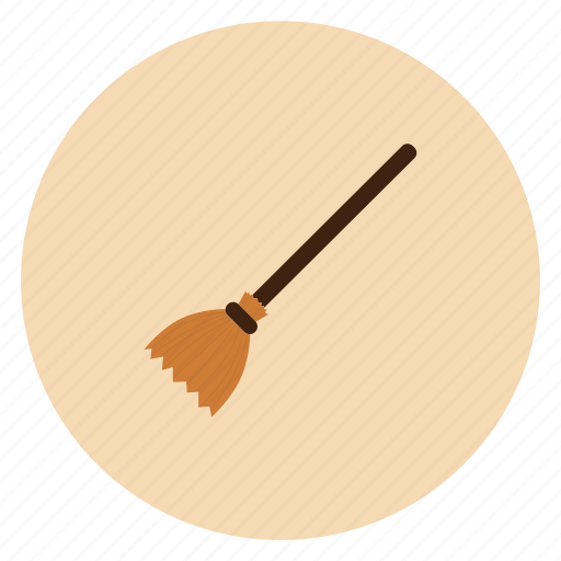 broom, halloween, holiday, witch icon