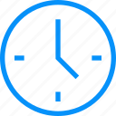 alarm, blue, clock, hour, minute, office, time, timer, work icon