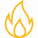 burning, camp, fire, flame, hot, nature, temperature, yellow icon