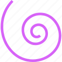 diary, dna, doodle, golden rule, helix, hypnosis, purple, spiral icon