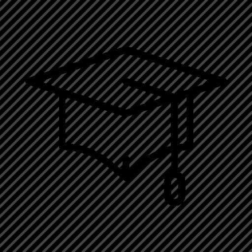 academic, cap, graduate, graduation, hat, square, student icon