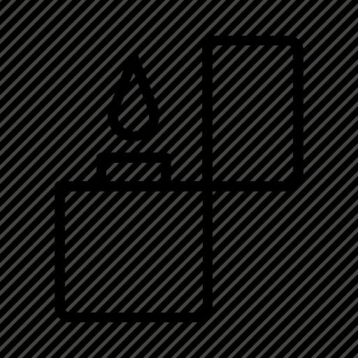 fire, flame, light, lighter, smoker, smoking, zippo icon