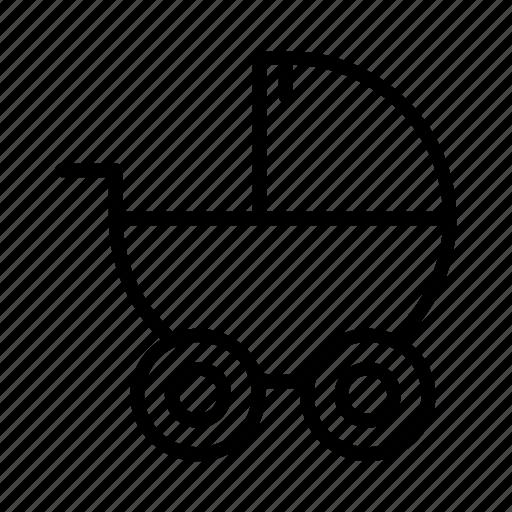baby, car, carrier, infant, stroller, transportation icon