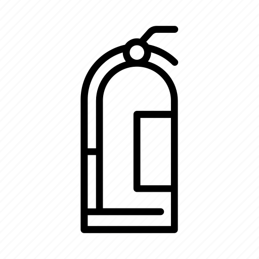 extinguish, extinguisher, fire, put out, safety icon