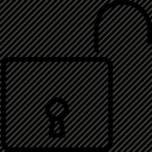 lock, miscellaneous, open, password, unlock icon