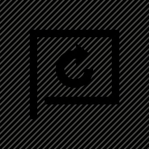 flag, refresh, update icon
