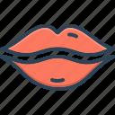 desire, glossy, kissing, lips, organ, osculate, sensuality