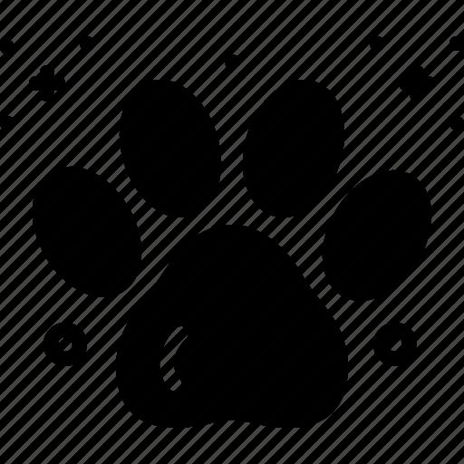 animal, foot print, paw, paw print, pet, print, veterinarian icon