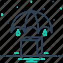 keep, maintenance, manage, put, safe, umbrella, upkeep icon
