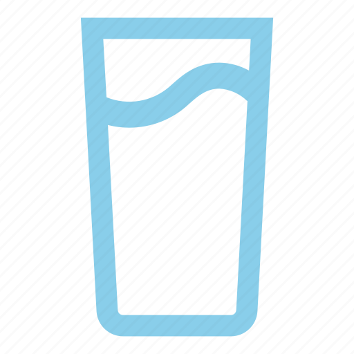 clean, glass, water icon