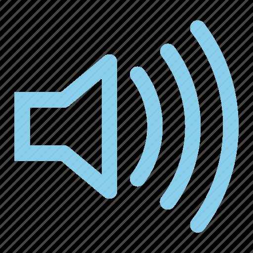 speaker, volume, volume up icon