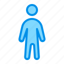 person, stand, user icon