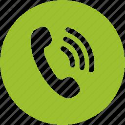 call, communication, phone, ringer, ringing, talk, telephone icon
