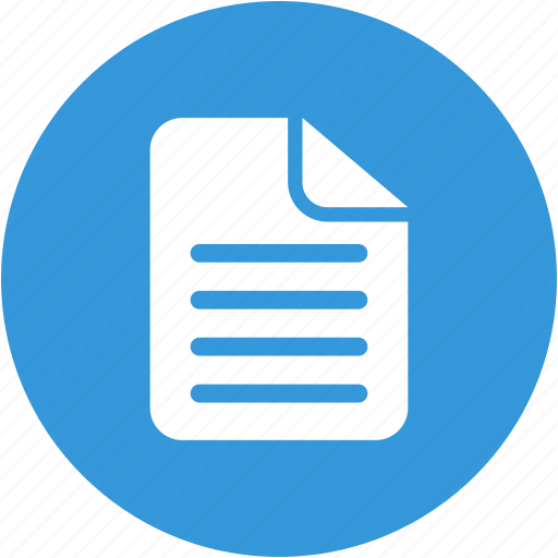 document, file, form, paper, report, sheet, text icon