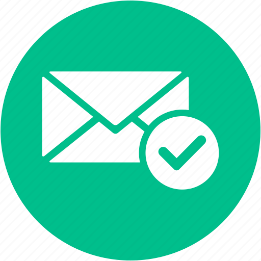 check, check mail, email, envelope, inbox, letter, mail icon