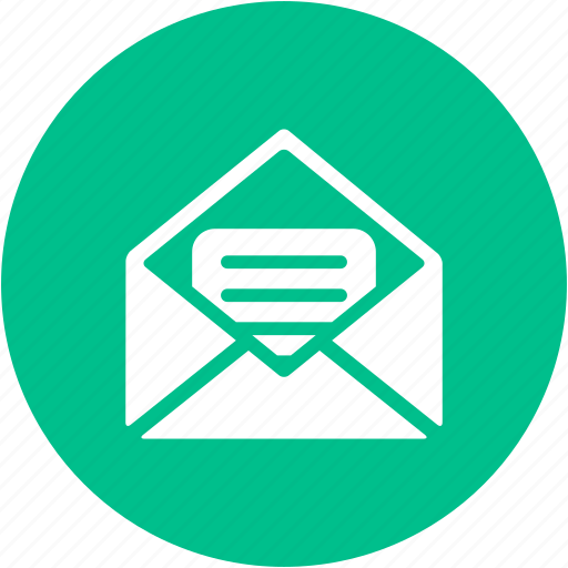 email, envelope, inbox, letter, mail, open mail, text icon