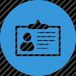 contact, file, identification, portfolio, profile, survey, user icon