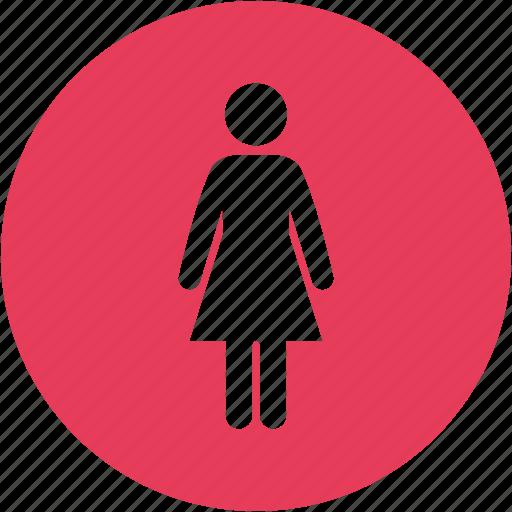 female, girl, people, woman, women icon