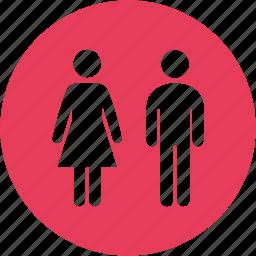 female, male, man, people, toilet, wc, women icon