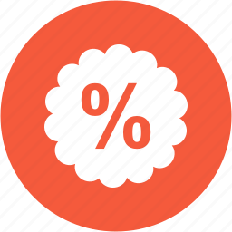 cart, discount, ecommerce, percent, price, sale, shopping icon