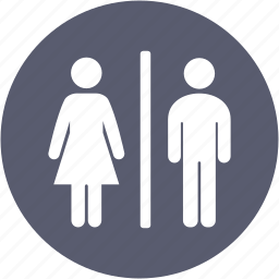female, male, man, toilet, wc, women icon