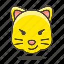 cat, face, smile icon