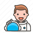 astronout, man, person icon