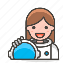 astronaout, person, woman icon