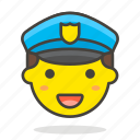 man, officer, police icon