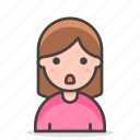 person, pouting, woman icon