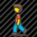 man, user, walking icon