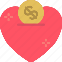 charity, donation, love icon