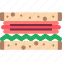 food, meal, sandwich icon