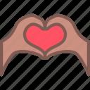 heart, love, solidarity icon