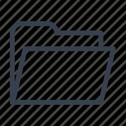 directory, empty, folder icon
