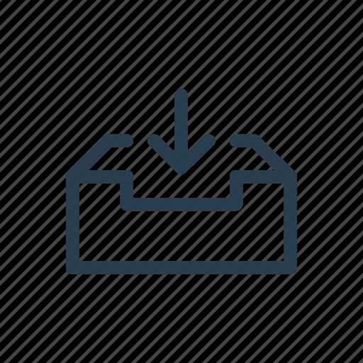 box, boxed, case, download, repository, storage, store icon