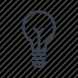 bulb, filament, incandescent, lamp icon