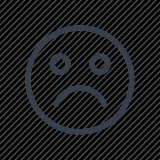 emotion, face, sad, sadness, sorrow, status icon
