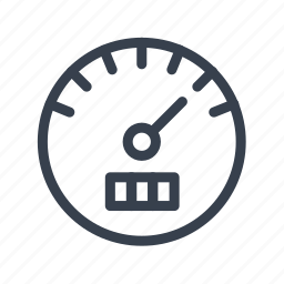 car, milage, mileage, speed, speedo, speedometer icon