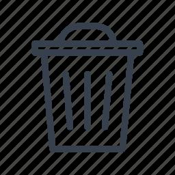 bin, garbage, rubbish, trash, urn icon
